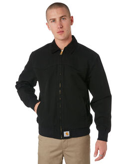 BLACK MENS CLOTHING CARHARTT JACKETS - I025147BLK