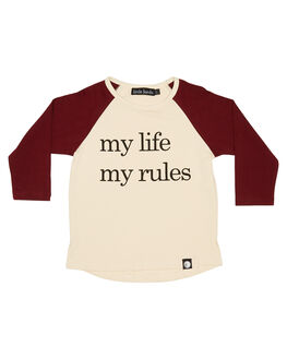 WHITE RED KIDS BOYS LITTLE LORDS TOPS - AW19313WHTR