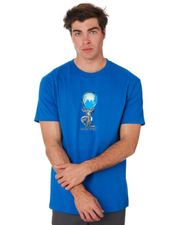 ROYAL BLUE MENS CLOTHING PASS PORT TEES - PPWORLDPWRRLBLU