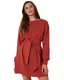 EARTH RED WOMENS CLOTHING THE BARE ROAD DRESSES - 990341-05EAD