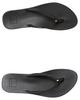 BLACK WOMENS FOOTWEAR REEF THONGS - A3OKUBLA