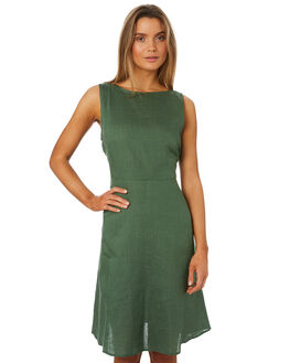 GRASS WOMENS CLOTHING LILYA DRESSES - LND09-PRSS18-GR