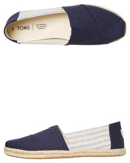 NAVY UNIVERSITY WOMENS FOOTWEAR TOMS SLIP ONS - 10013504NUNI