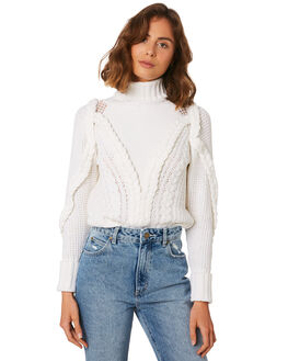WHITE WOMENS CLOTHING MLM LABEL KNITS + CARDIGANS - MLM457A-WHT