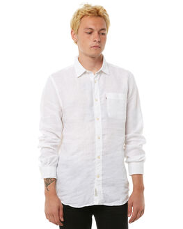 WHITE MENS CLOTHING ACADEMY BRAND SHIRTS - BA801WHT