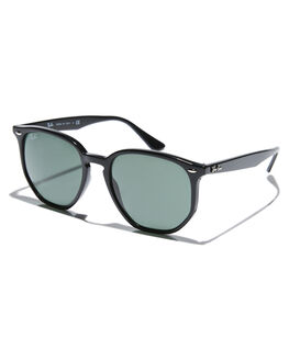 BLACK GREEN MENS ACCESSORIES RAY-BAN SUNGLASSES - 0RB4306BLKGR