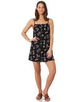 BLACK FLORAL WOMENS CLOTHING O'NEILL DRESSES - 5421618BFL