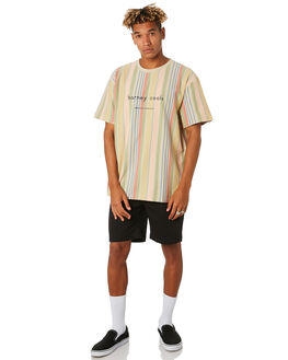 WHITE VERT STRIPE MENS CLOTHING BARNEY COOLS TEES - 150-CC3WHTST