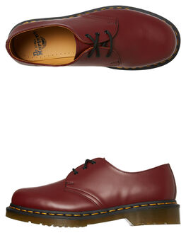 CHERRY RED SMOOTH MENS FOOTWEAR DR. MARTENS BOOTS - SS11838600CHERM