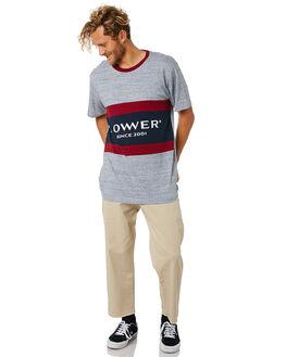 GREY MARLE RED NAVY MENS CLOTHING LOWER TEES - LO18Q4MTS12GMRN