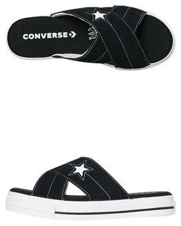 BLACK WOMENS FOOTWEAR CONVERSE SLIDES - 564143CBLK