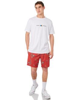 RED VACATION MENS CLOTHING BARNEY COOLS BOARDSHORTS - 805-CR4REDVA