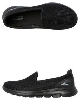 BLACK BLACK WOMENS FOOTWEAR SKECHERS SLIP ONS - 15901BBK