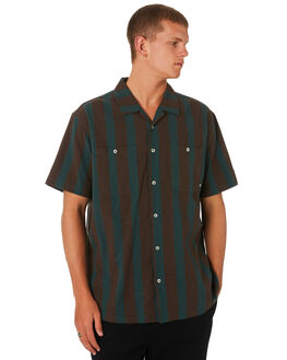 TEAL MENS CLOTHING STUSSY SHIRTS - ST091405TEAL