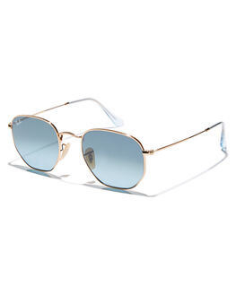 GOLD BLUE GREY MENS ACCESSORIES RAY-BAN SUNGLASSES - 0RB3548NGLDBG