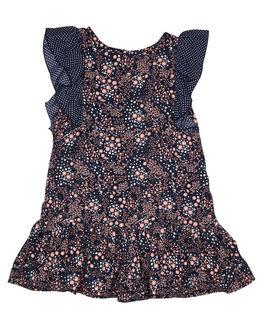 POPPY PRINT KIDS GIRLS EVES SISTER DRESSES + PLAYSUITS - 8021017POP