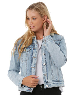 ICED BLUE WOMENS CLOTHING THE HIDDEN WAY JACKETS - H8182381IBLUE