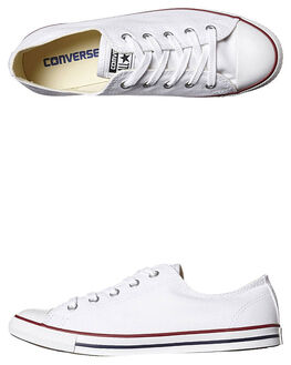 WHITE RED BLUE WOMENS FOOTWEAR CONVERSE SNEAKERS - 537204WHI