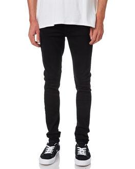 BLACK MENS CLOTHING DR DENIM JEANS - 1610109-101