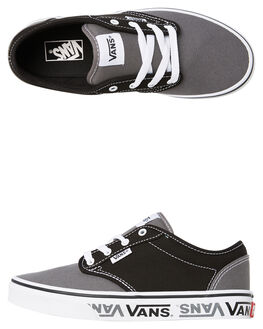 BLACK KIDS BOYS VANS SNEAKERS - VNA45JSVEG
