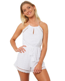 WHITE OUTLET WOMENS TEE INK PLAYSUITS + OVERALLS - VAW1315WHT