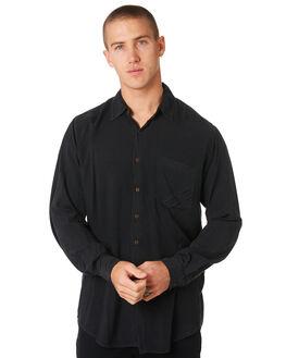 BLACK MENS CLOTHING THE PEOPLE VS SHIRTS - STEVIELSBLK