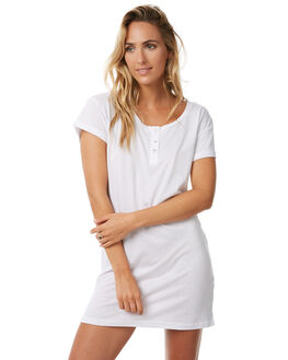 WHITE OUTLET WOMENS TEE INK DRESSES - CAST008AWHT