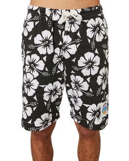 BLACK MENS CLOTHING OKANUI BOARDSHORTS - OKBOHBBLBLK