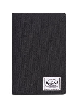 BLACK MENS ACCESSORIES HERSCHEL SUPPLY CO WALLETS - 10399-00001-OSBLK