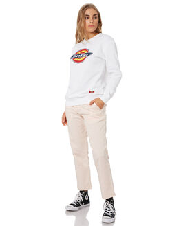 WHITE WOMENS CLOTHING DICKIES JUMPERS - KW3190301WH