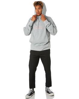 GREY MELANGE MENS CLOTHING BARNEY COOLS JUMPERS - 404-CC3GRYML
