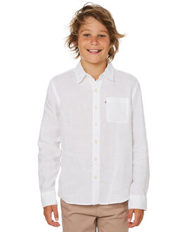 WHITE KIDS BOYS ACADEMY BRAND TOPS - BBA801WHT