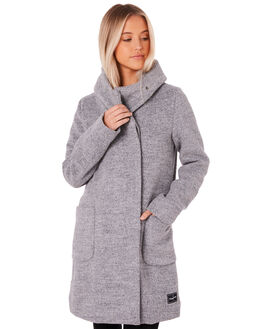 LIGHT GREY WOMENS CLOTHING RPM JACKETS - 8WWT18BLGRY