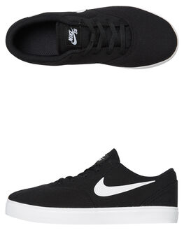 BLACK WHITE KIDS BOYS NIKE SNEAKERS - 905371-003