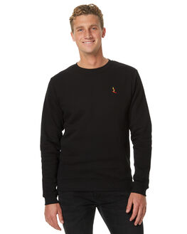 BLACK MENS CLOTHING SWELL JUMPERS - S5174446BLK