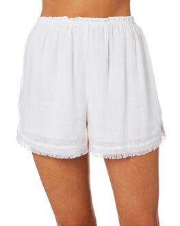 WHITE OUTLET WOMENS ALL ABOUT EVE SHORTS - 6424076WHT