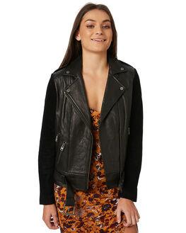 BLACK WOMENS CLOTHING TIGERLILY JACKETS - T383242BLK
