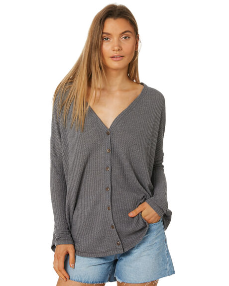 CHARCOAL WOMENS CLOTHING RUSTY KNITS + CARDIGANS - FSL0546CHA
