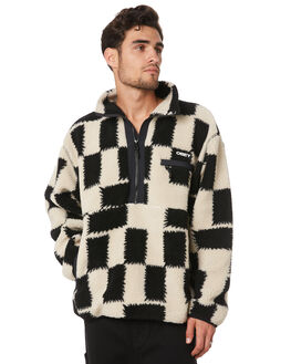 BLACK MULTI MENS CLOTHING OBEY JUMPERS - 121800385BKM