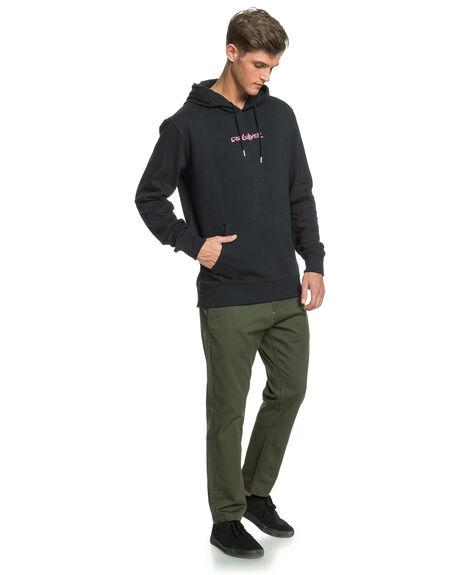 BLACK MENS CLOTHING QUIKSILVER JUMPERS - EQYFT04163-KVJ0