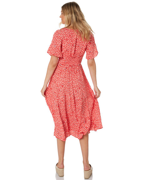RED COMBO WOMENS CLOTHING FREE PEOPLE DRESSES - OB10787256004