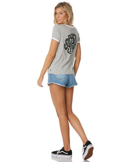 GREY MARLE WOMENS CLOTHING RUSTY TEES - TTL1064GMA