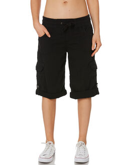 BLACK WOMENS CLOTHING RIP CURL SHORTS - GWAFI10090