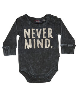 BLACK WASH KIDS BABY ROCK YOUR BABY CLOTHING - BBB1812-NBLKW