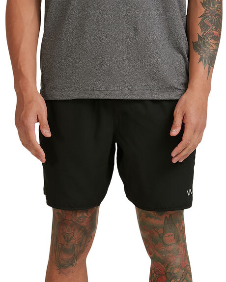 BLACK MENS CLOTHING RVCA SHORTS - RV-R107312-BLK