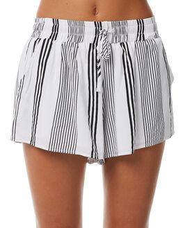 WHITE WOMENS CLOTHING TEE INK SHORTS - CAST48AWHT