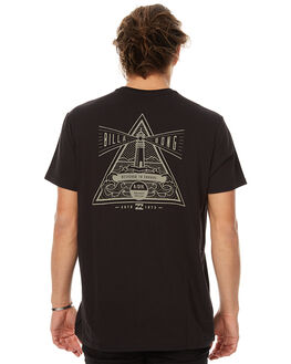 BLACK MENS CLOTHING BILLABONG TEES - 9576003BLK