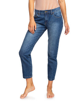 DARK BLUE WOMENS CLOTHING ROXY JEANS - ERJDP03217-BSWW