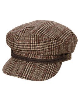 KHAKI PLAID MENS ACCESSORIES BRIXTON HEADWEAR - 00004KHPLD
