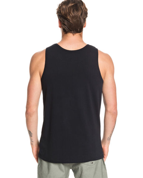 BLACK MENS CLOTHING QUIKSILVER SINGLETS - EQYZT05680-KVJ0